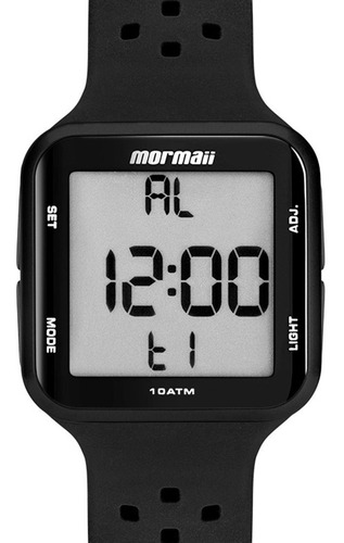 relógio digital mormaii pulseira preta mo6600/8p original