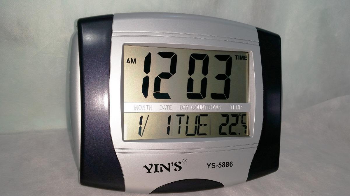 d05750e5773 relógio digital parede ou mesa alarme calendário termômetro. Carregando  zoom.