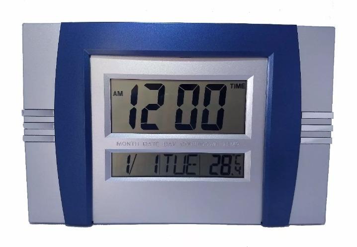 bba51933806 Relogio Digital Parede Ou Mesa Com Termômetro Alarme 5850az - R  35 ...