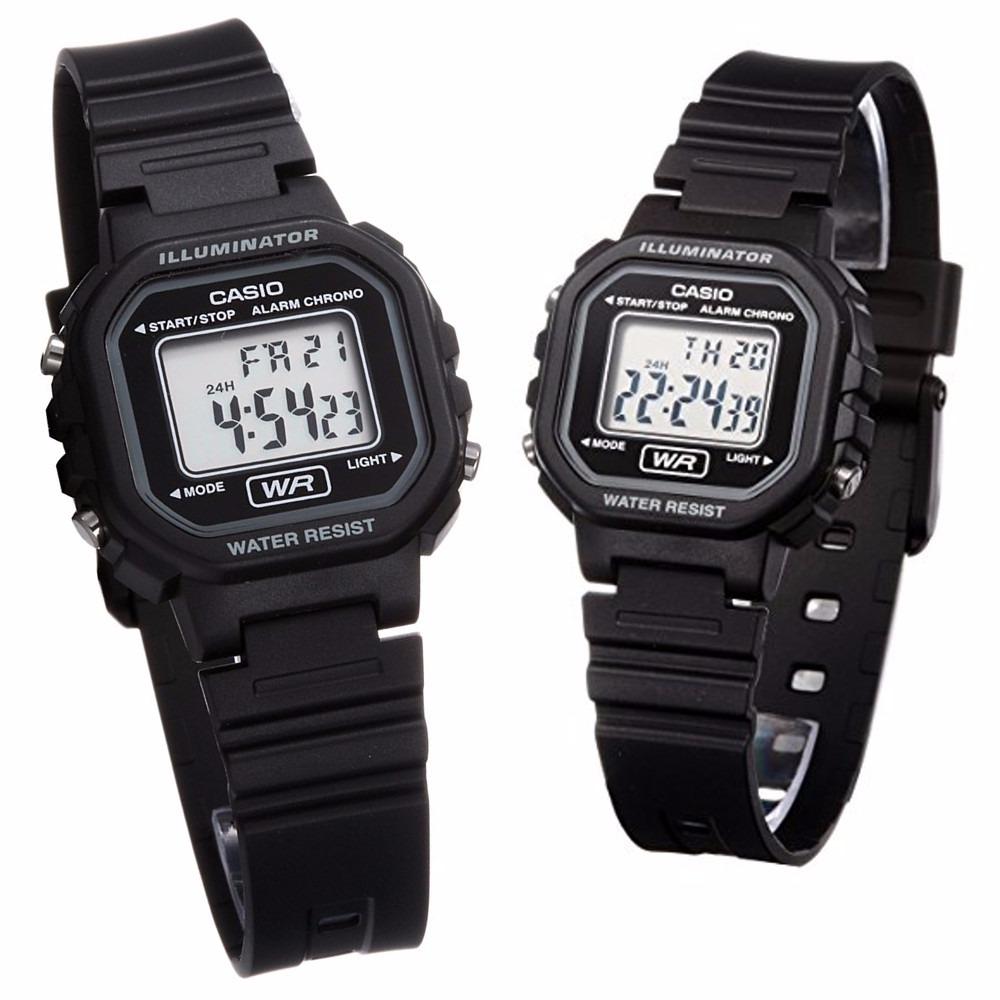 c31bc9c8651 relógio digital preto com alarme cronômetro casio la-20wh-1a. Carregando  zoom.