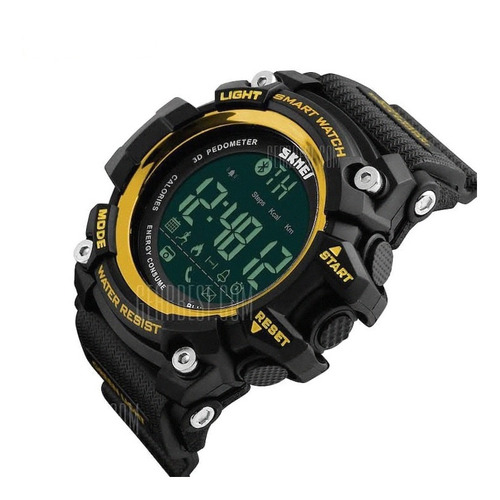 relógio digital: skmei 1227, smart sports watch - gold
