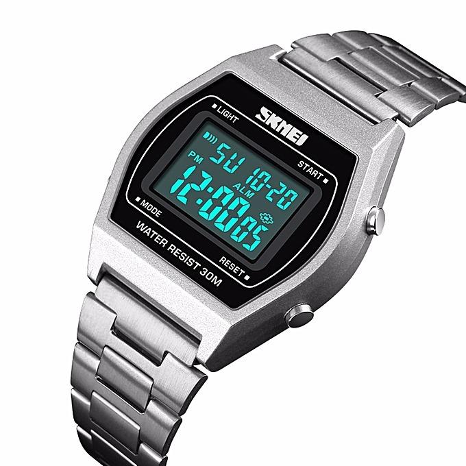 4e7b2117f1b7 Relógio Digital Skmei 1328 Unissex Estilo Casio Vintage - R  109
