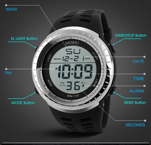 relógio digital skmei à prova d'água