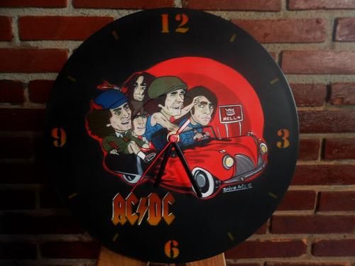 relógio disco de vinil acdc