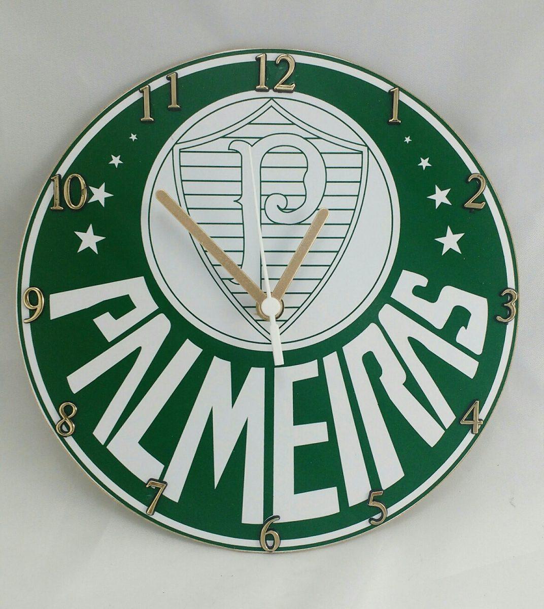 Relógio Do Palmeiras De Parede - R  39,99 em Mercado Livre 16762c6281