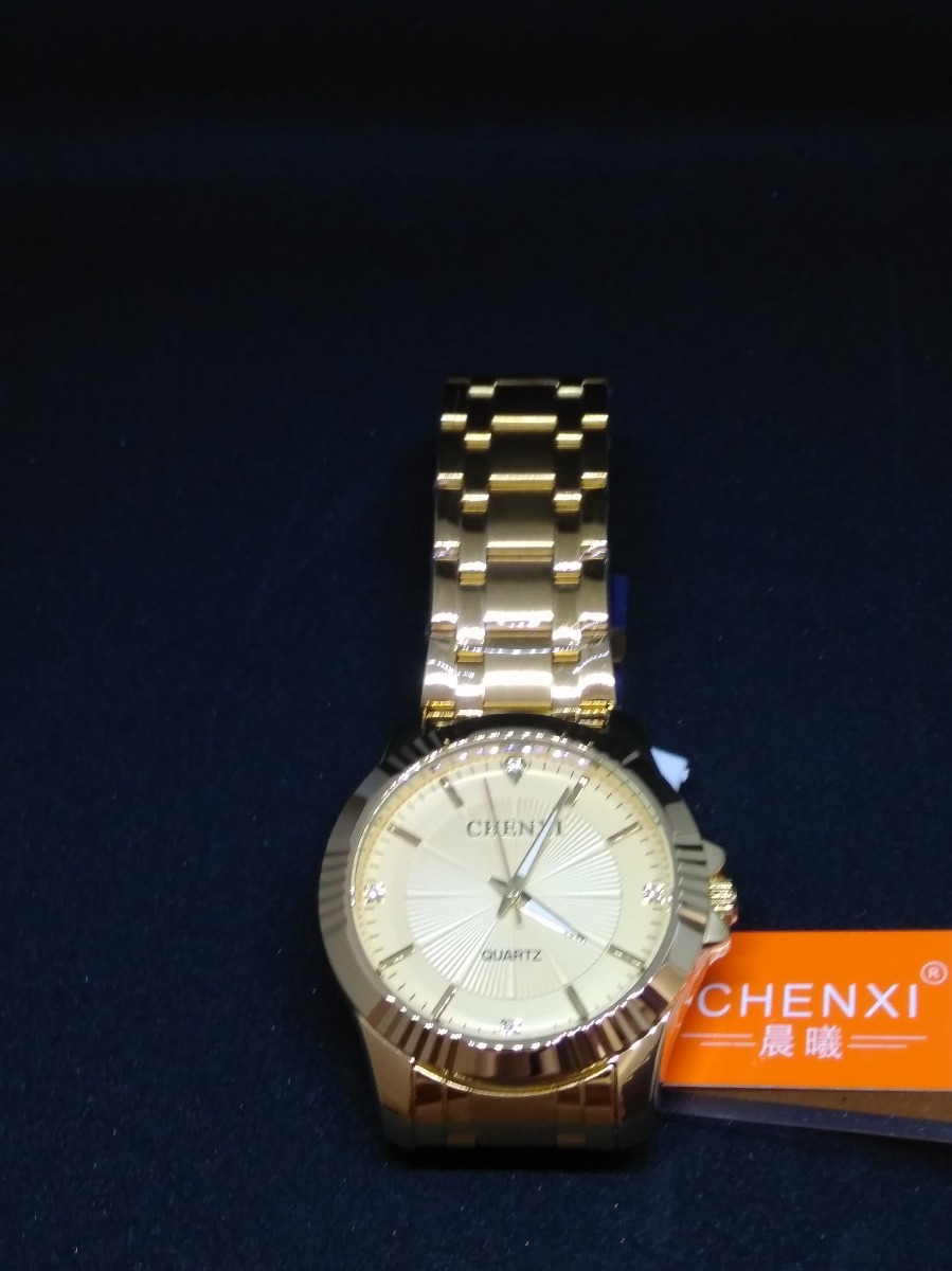 8263278c363 relógio dourado chenxi masculino banhado a ouro +brinde ! Carregando zoom.