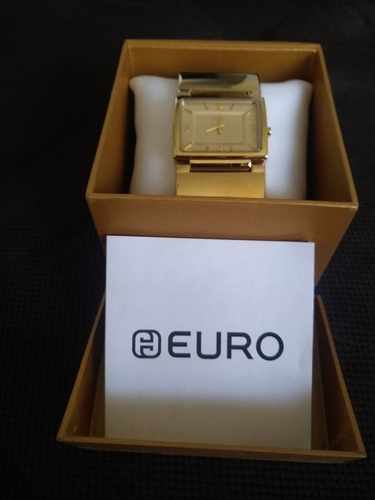 relógio dourado euro