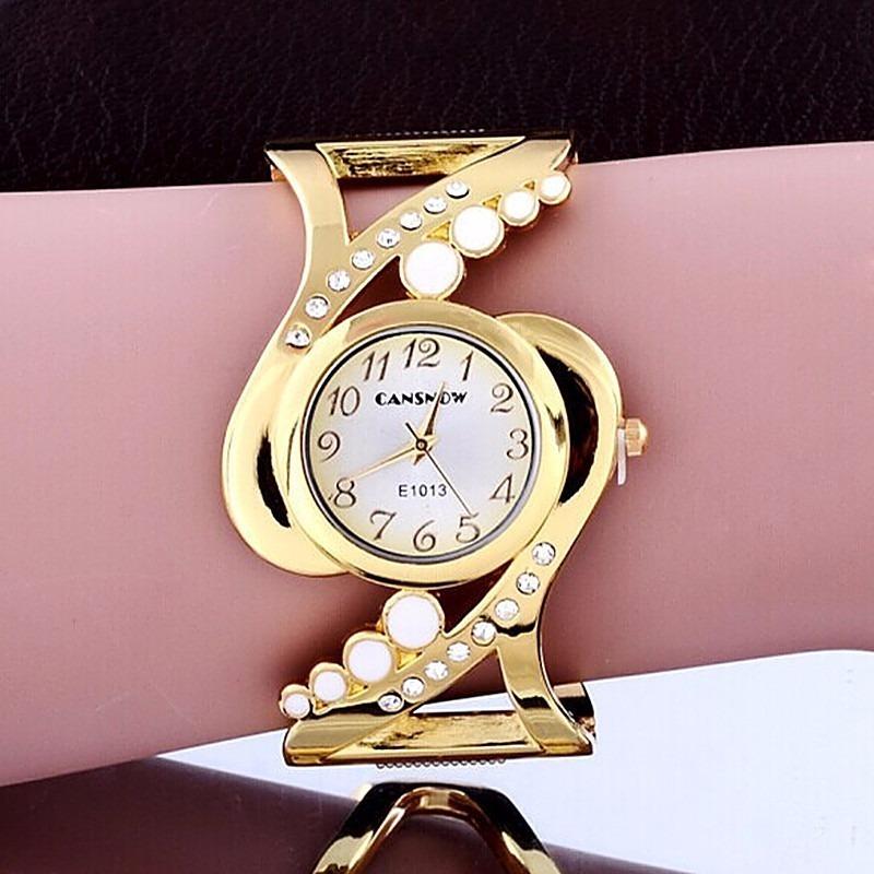 cd9c3de6d63 relogio dourado feminino barato bracelete varios modelos. Carregando zoom.