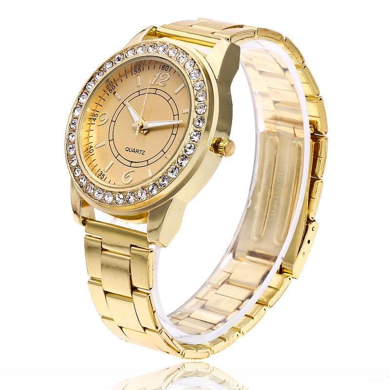 5d0017ddd relógio dourado feminino ouro promoção pra acabar. Carregando zoom.