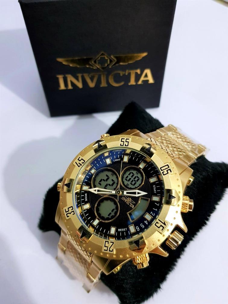 d37c2b5bffd Relógio Dourado Funcional Aço Pesado Com Caixa Frete Gratis - R  145 ...