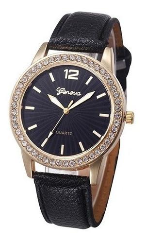 relógio dourado fundo preto vários modelos