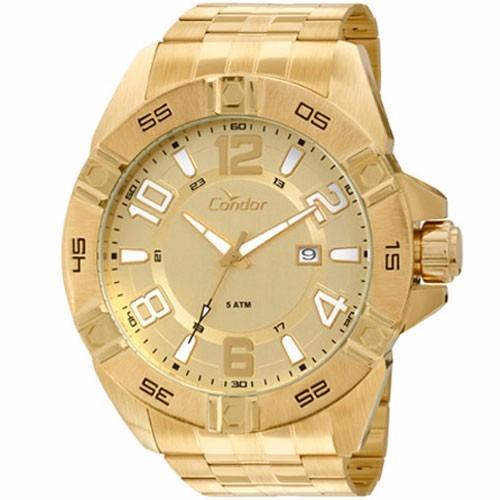 8724c3f25e2 Relógio Dourado Grande Condor Co2315aa 4x By  Technos - R  174