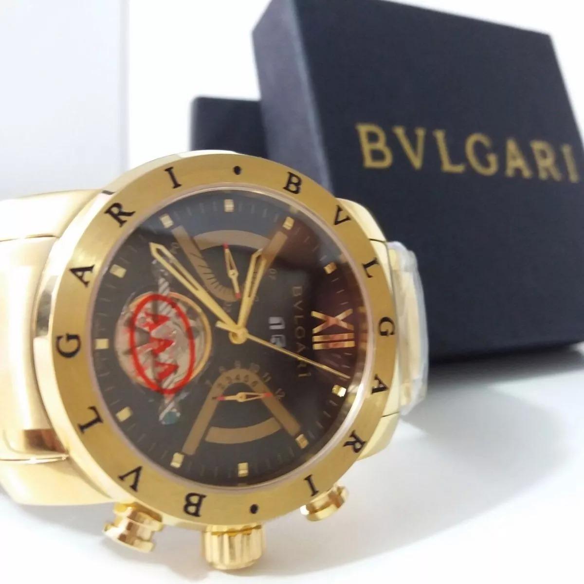 52fd3bf3d98 relogio dourado iron man bv bullgari masculino dourado d576. Carregando  zoom.