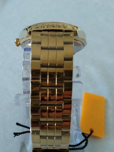 relógio dourado masculino atlantis g-3260 original