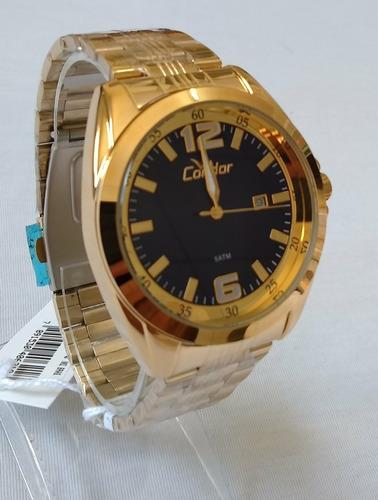 relogio dourado masculino condor original ref-co2115vq/4a.