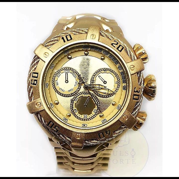 2795927b74d Relogio Dourado Masculino - Importado - R  230