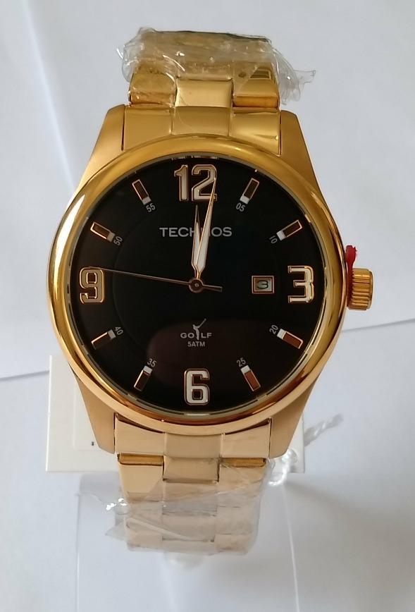 2f7e001f362 relogio dourado masculino technos golf 2115rn 4p original. Carregando zoom.
