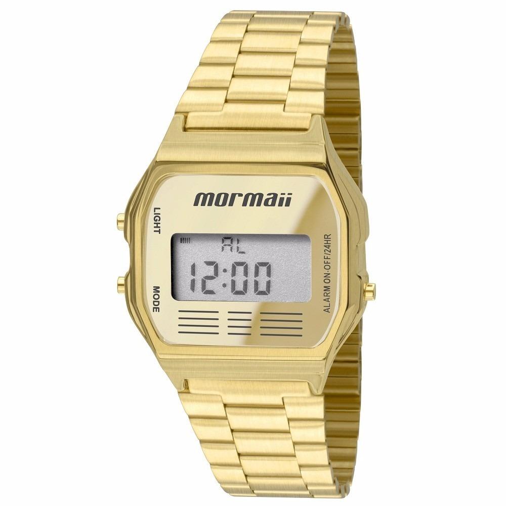 5a593620a55 relógio dourado mormaii retro vintage unissex mojh02ab 4d. Carregando zoom.