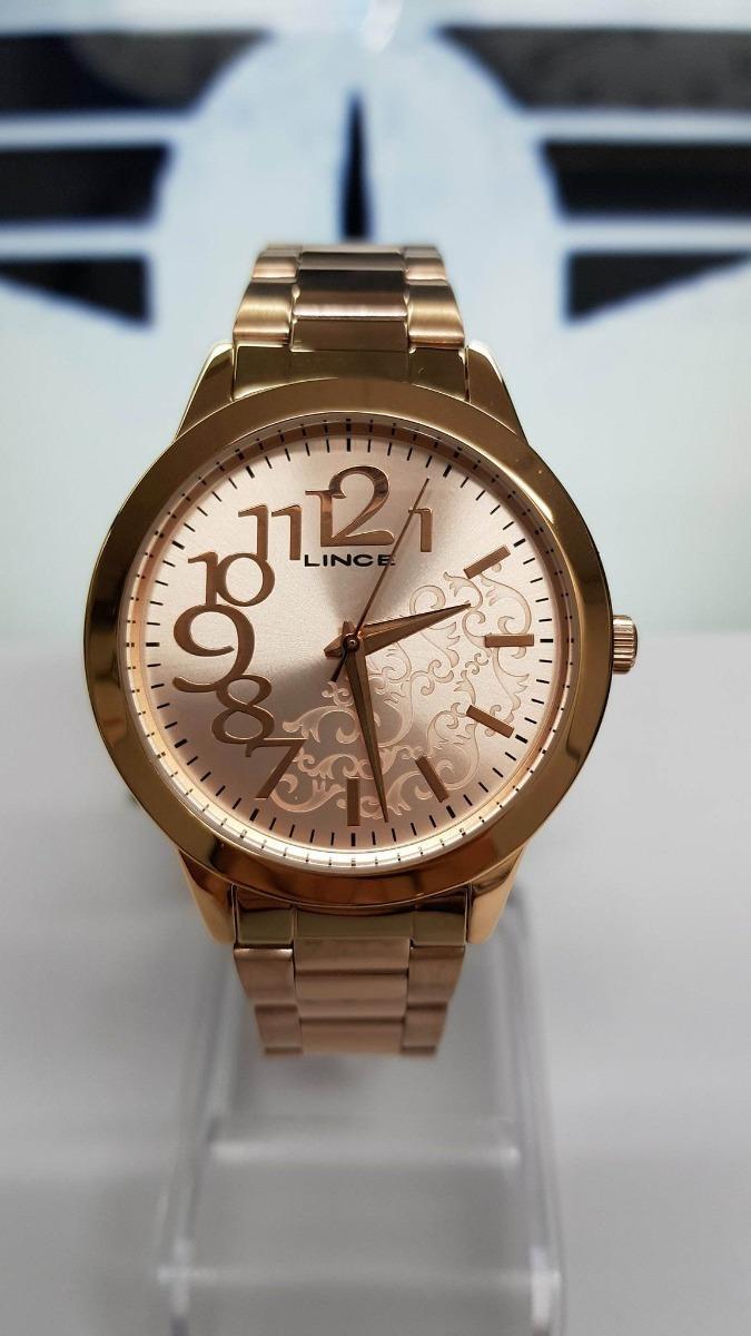 2edc950b97c36 Relógio Dourado Rose Feminino Lince Lrrj008l Sper Promoção - R  129 ...