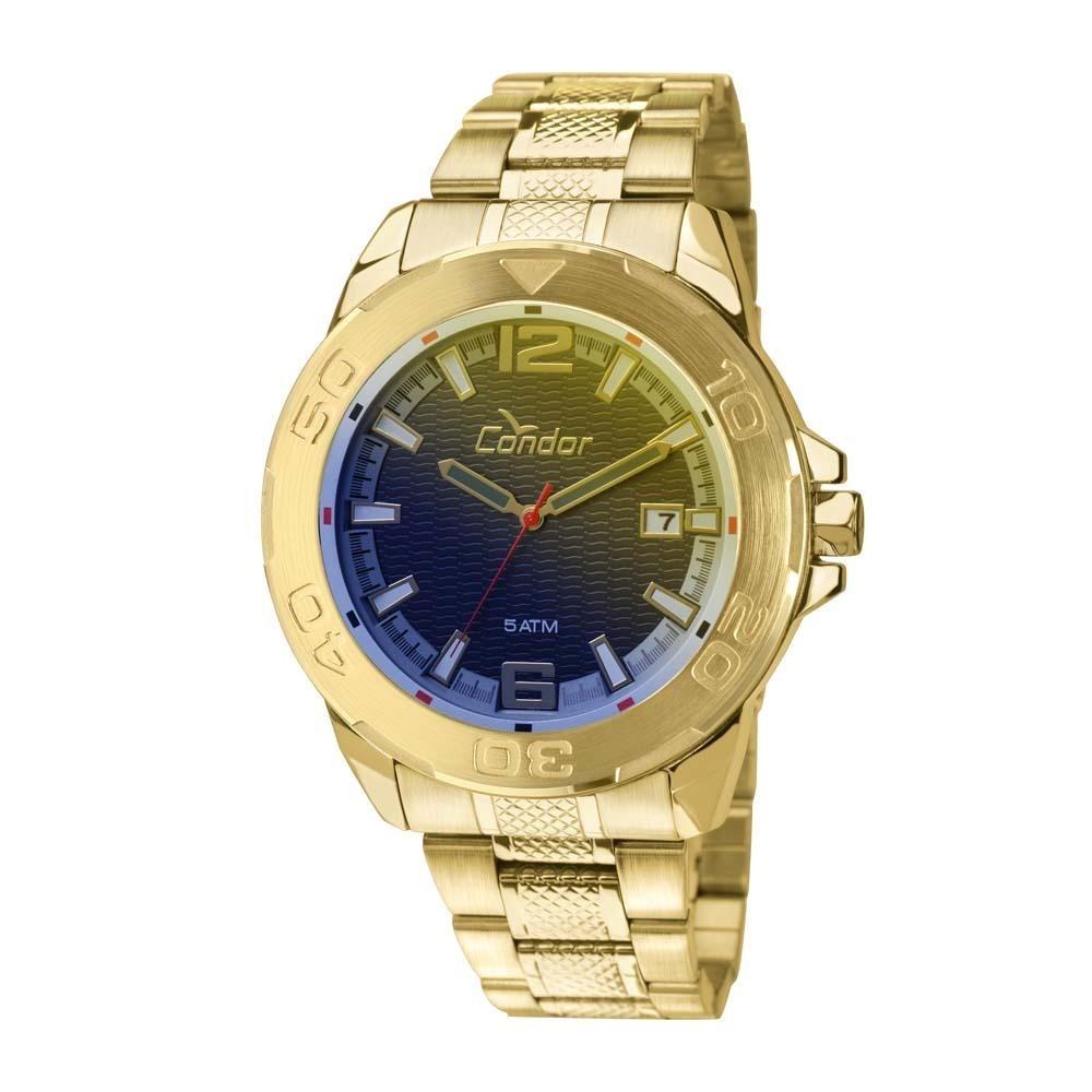 74e11b74129 Relógio Dourado Vidro Camaleão Masc Condor Co2415ak Grande - R  229 ...