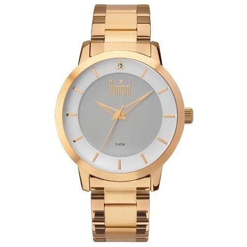 9235d960f7a8c Relógio Dumont Analógico Dourado Feminino Du2035lvr 4x - R  159