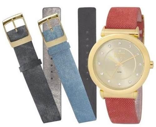 6a37098e554 Relógio Dumont Feminino Troca Pulseira Du2036ltq 2d - R  206