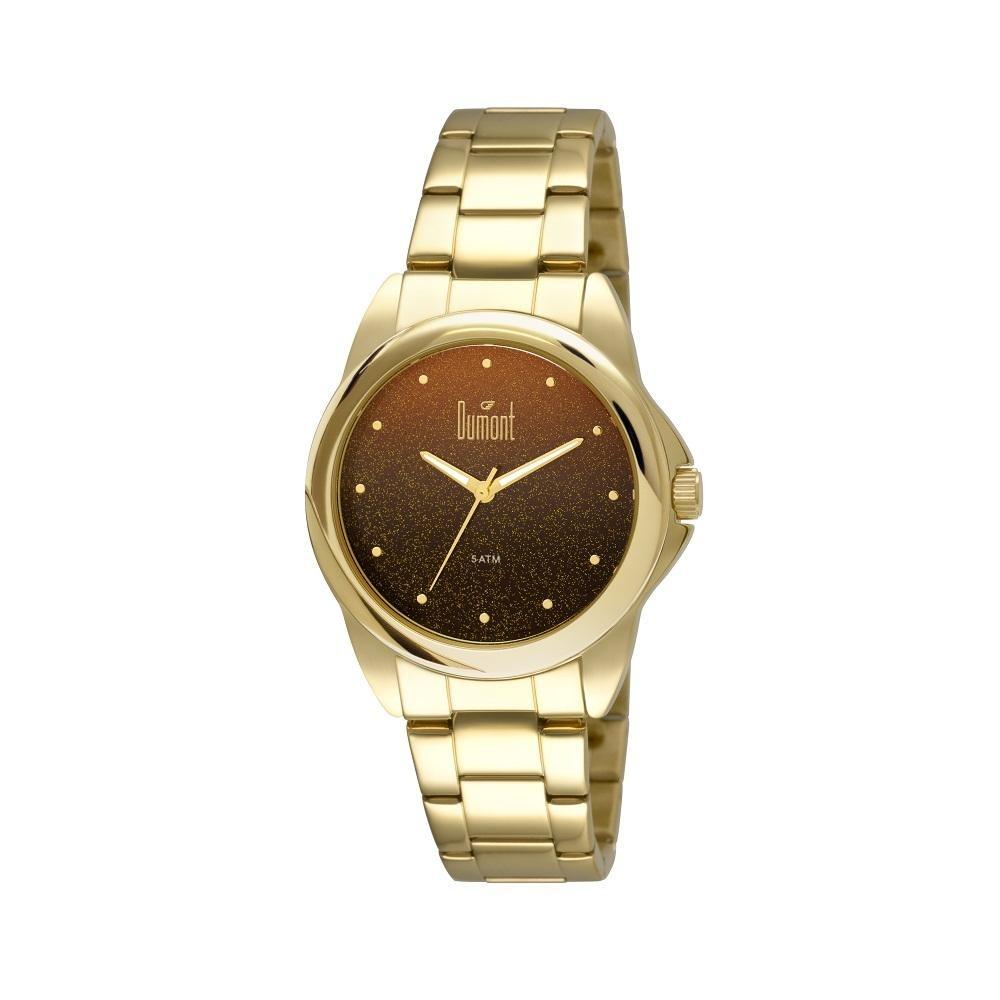 fd7b484e64d8a Relógio Dumont Feminino Elements Du2035lnu 4p Dourado - R  298,00 em ...