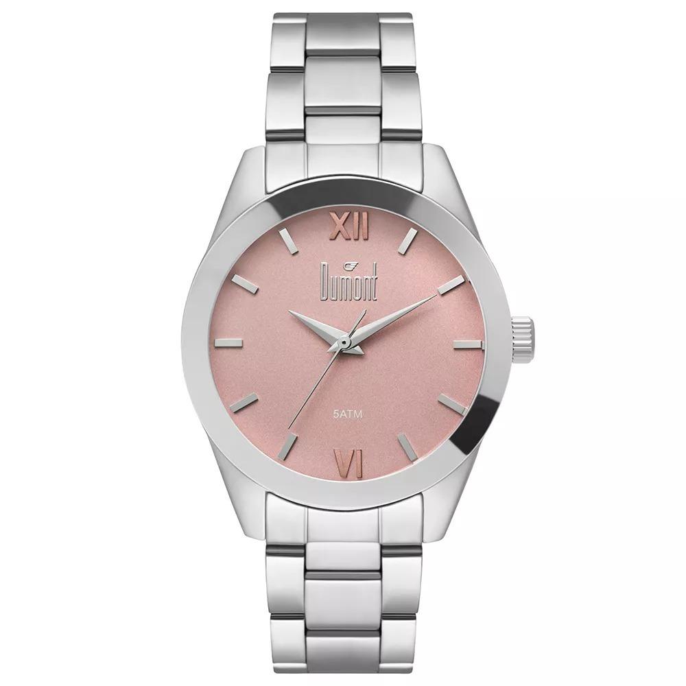 12dda0eddc9 Relógio Dumont Feminino Prata - Du2036lvc 3t - R  149