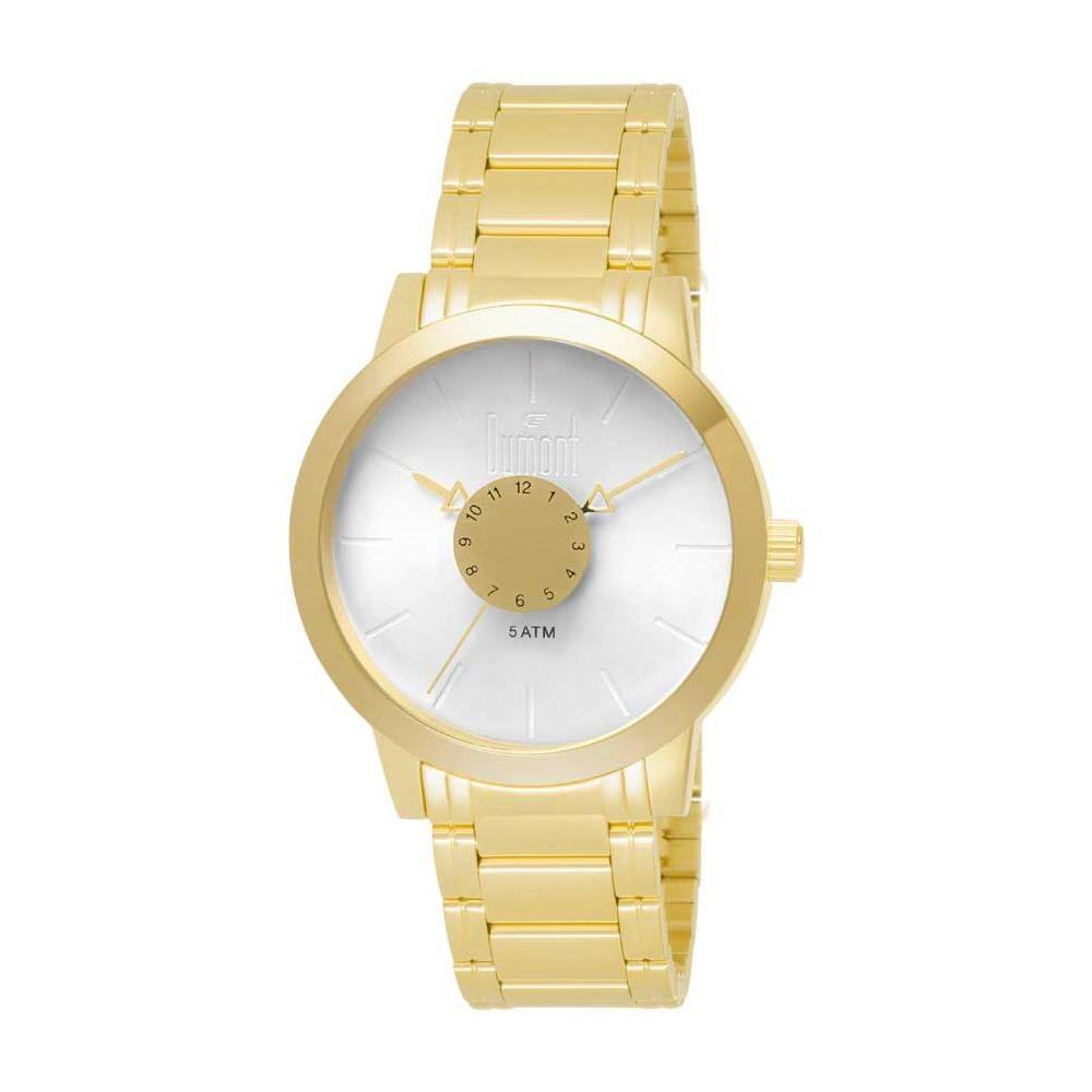 7e45446e020 Relógio Dumont Feminino Elements Du2036mfb 4b Dourado - R  290