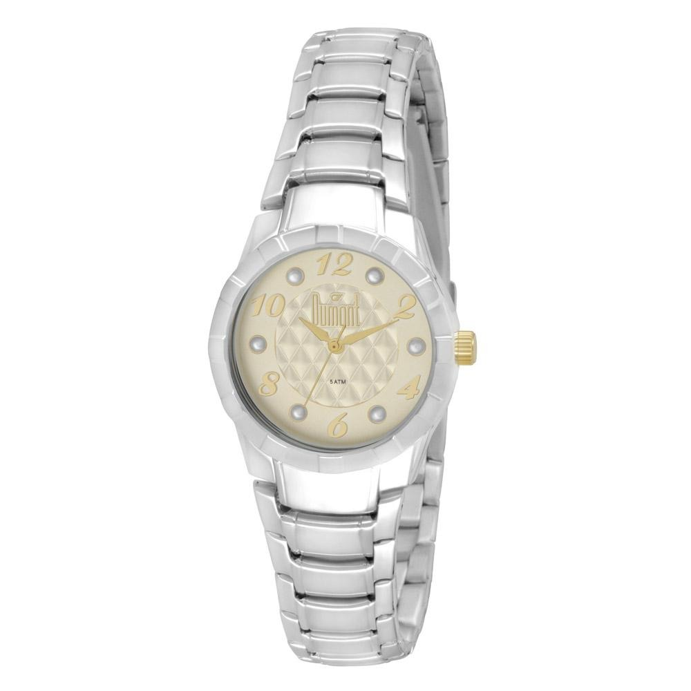16c771d4133 Relógio Dumont Feminino London Du2035lns 3x Prata - R  198