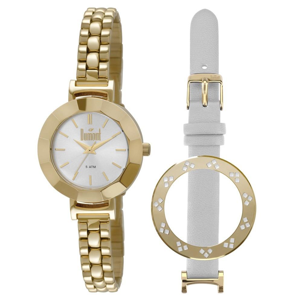 relógio dumont feminino dourado du2035lnd - troca pulseira. Carregando zoom. ae4c02e817