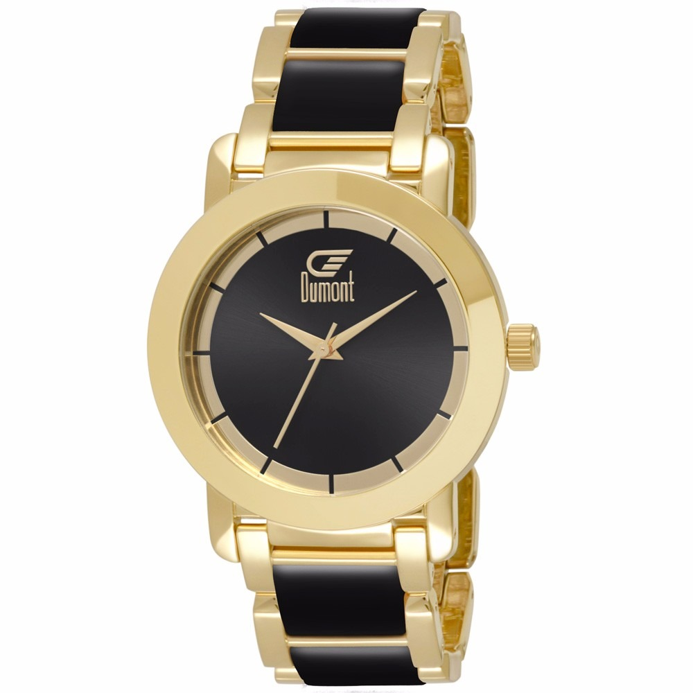4a40160a3d4 Relógio Dumont Feminino Du2035lst 5p Analógico Dourado - R  315