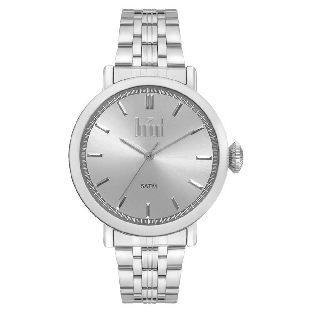 bf4a5dcaf8b relógio dumont feminino prata du2035lsx 3l. Carregando zoom.