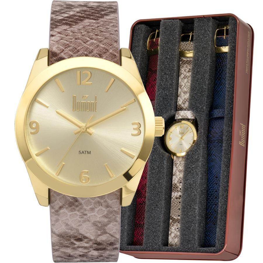 88020108573 relógio dumont feminino vip troca pulseiras du2036lvk 2d. Carregando zoom.