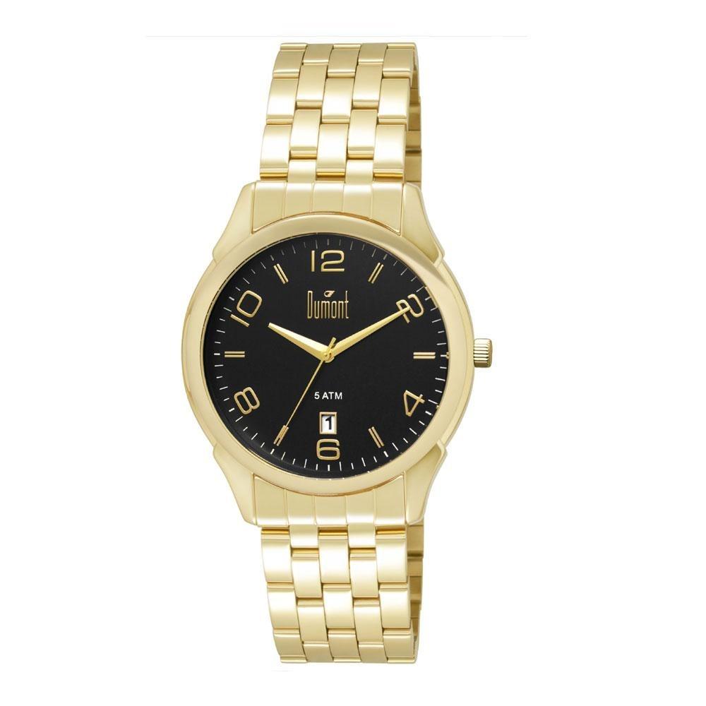 f3233aa904ab4 Relógio Dumont Masculino Berlim Du2315bd 4p Dourado - R  239