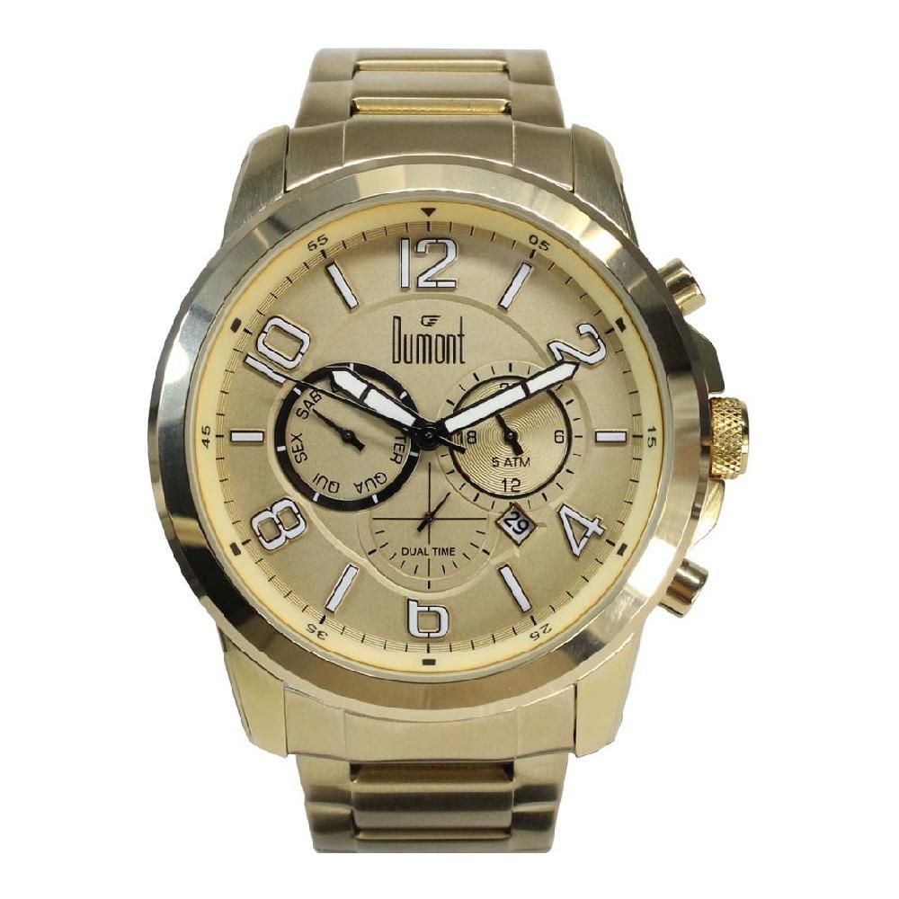 33ce0610a123f Relógio Dumont Traveller Masculino Dujp25aa 4d - R  425,00 em ...