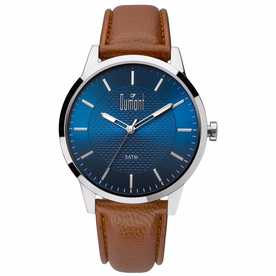 dc5c6a55eaf Relógio Dumont Masculino Couro - Du2035lvj 3a - Nfe - R  189