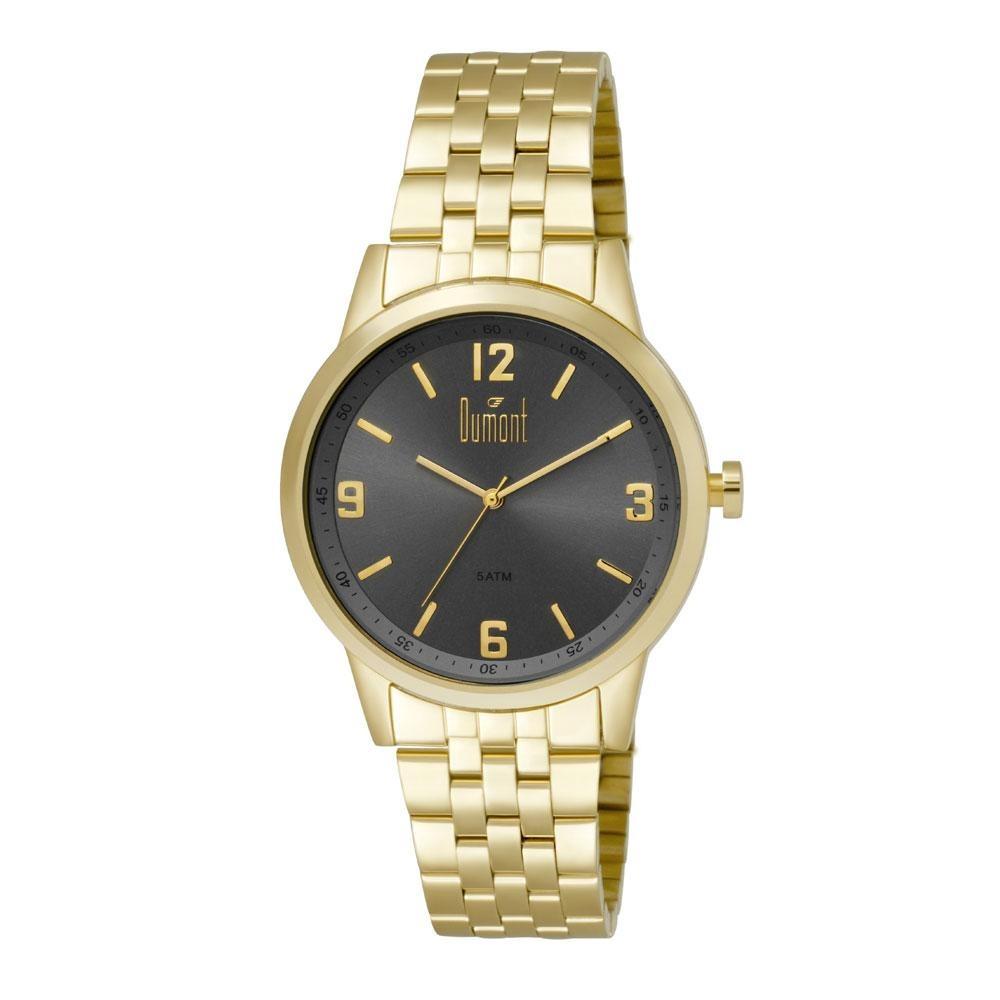 6a48d1a62598d Relógio Dumont Masculino Berlim Du2035ltg 4p Dourado - R  239
