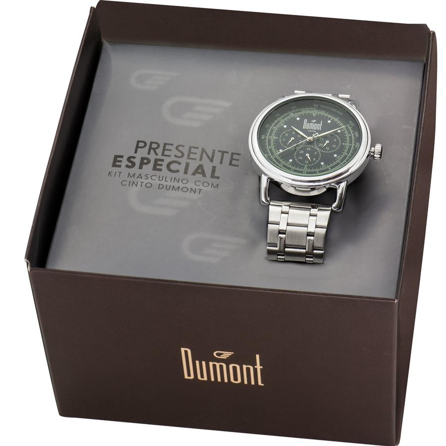 7595561c90b Kit Relógio Dumont Masculino Com Cinto Du6p29aca k3k - R  175