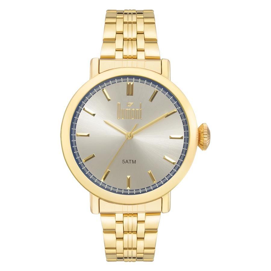 3fd1895b511fd Relógio Dumont Masculino Ref  Du2035lsy 4d Vintage Dourado - R  219 ...