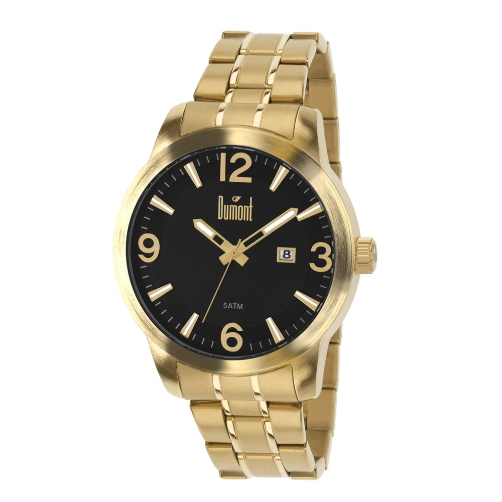 b25ae03122836 relógio dumont masculino dourado du2115bb 4x. Carregando zoom.