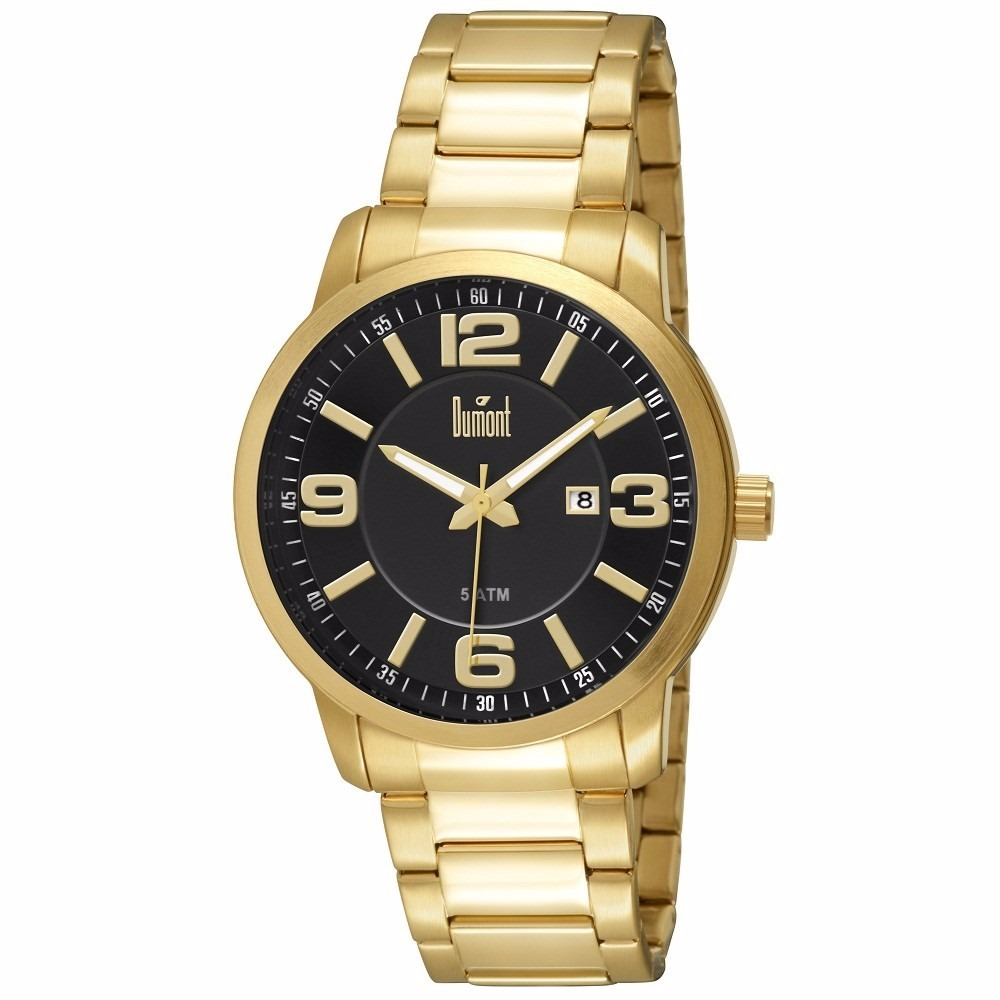 b2a33eb3f3a relógio dumont masculino dourado du2115bo 4c. Carregando zoom.