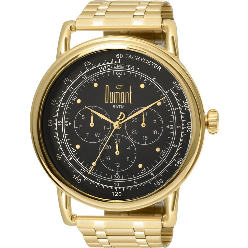 5b2dbe0b045 relógio dumont masculino dourado e preto nfe du6p29acb 4d. Carregando zoom.