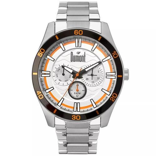 relógio dumont masculino du6p29acc/3k, c/ garantia e nf