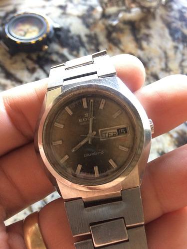 relógio edox swiss made raríssimo