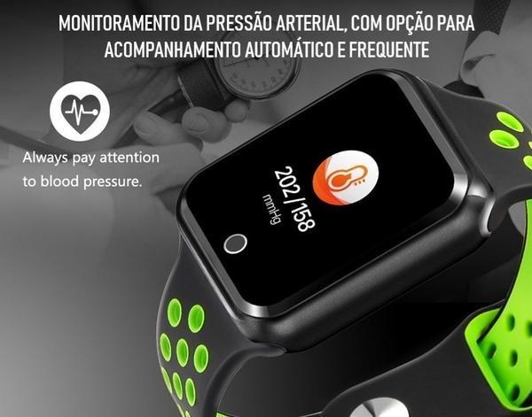 38ef9590db4 Relógio Eletrônico Oled Pró Série 2 - 42mm - Smartwatch - R  400
