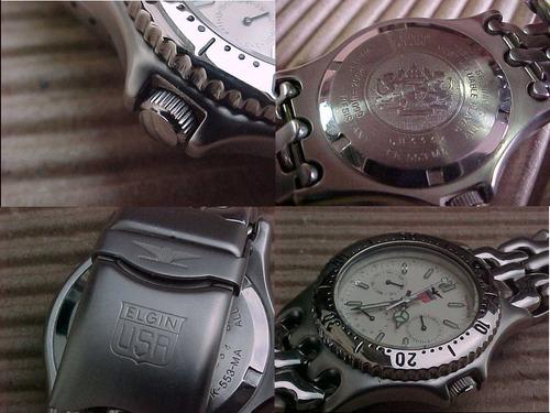 relógio elgin usa quartzo water resistant 200m 24h indicator