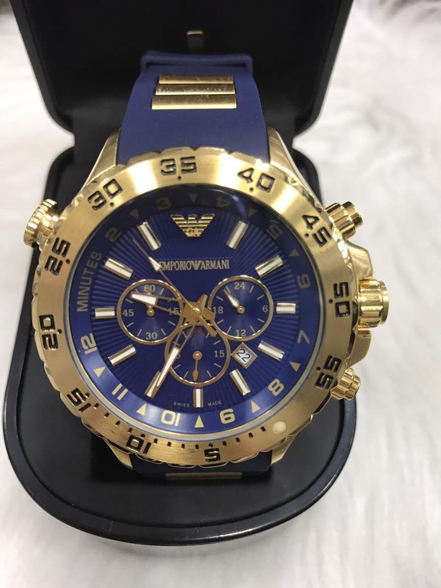 cc1971624b0 relógio emporio armani 0690 borracha original garantia ar178. Carregando  zoom.