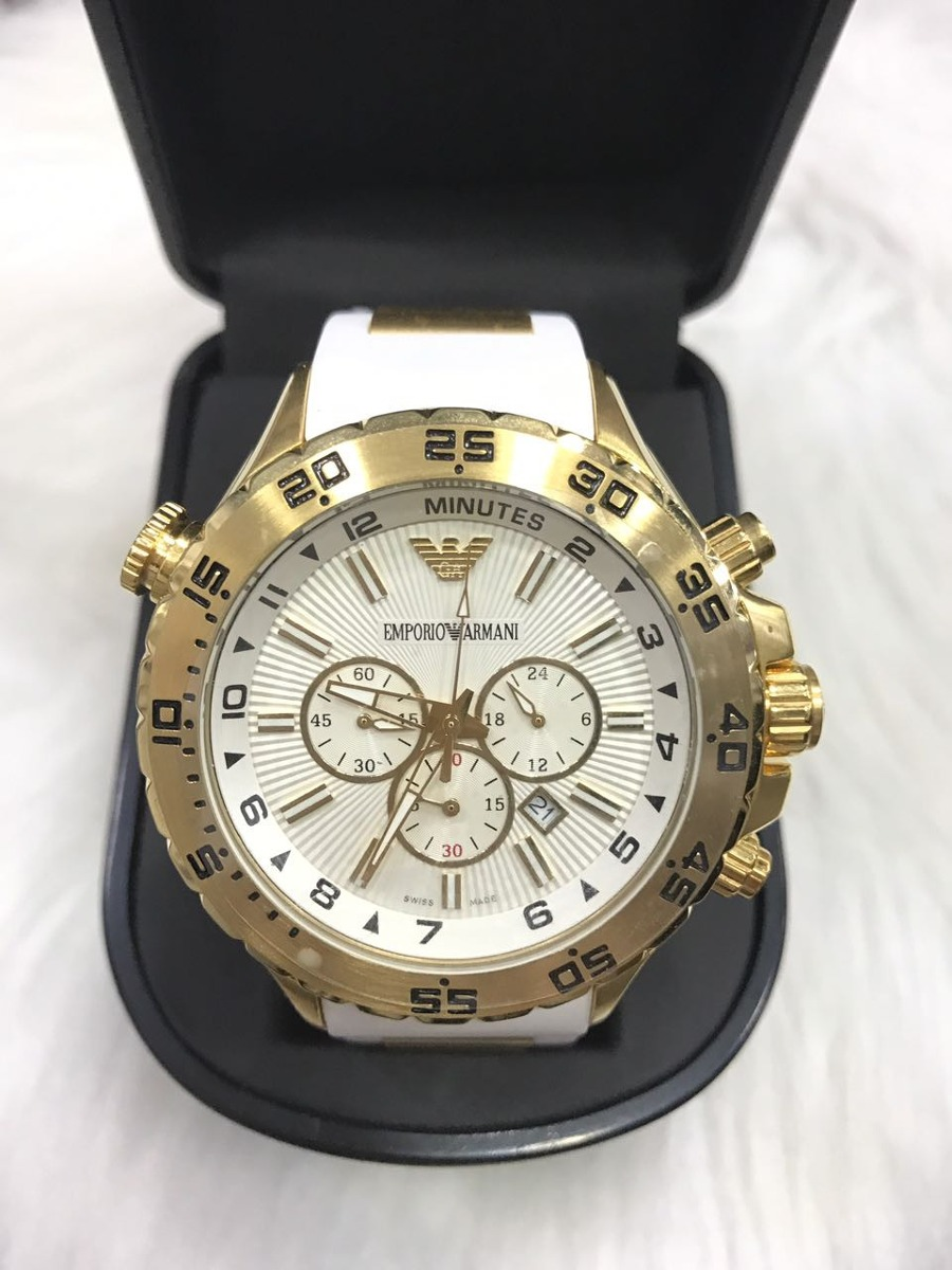 c565535d91a relógio emporio armani 0690 borracha original garantia ar18. Carregando zoom .