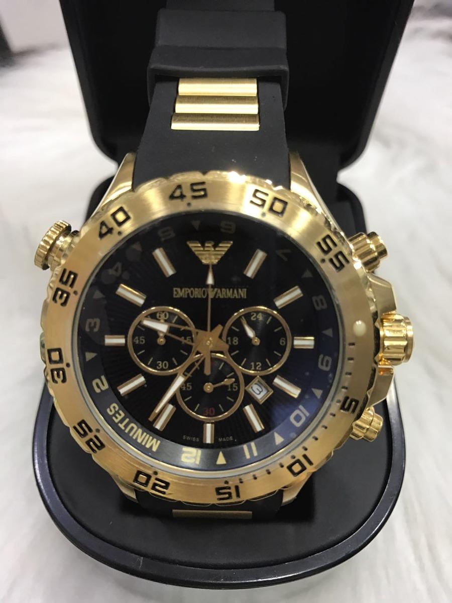 c06b4218eb7 relógio emporio armani 0690 borracha original garantia ar25. Carregando zoom .